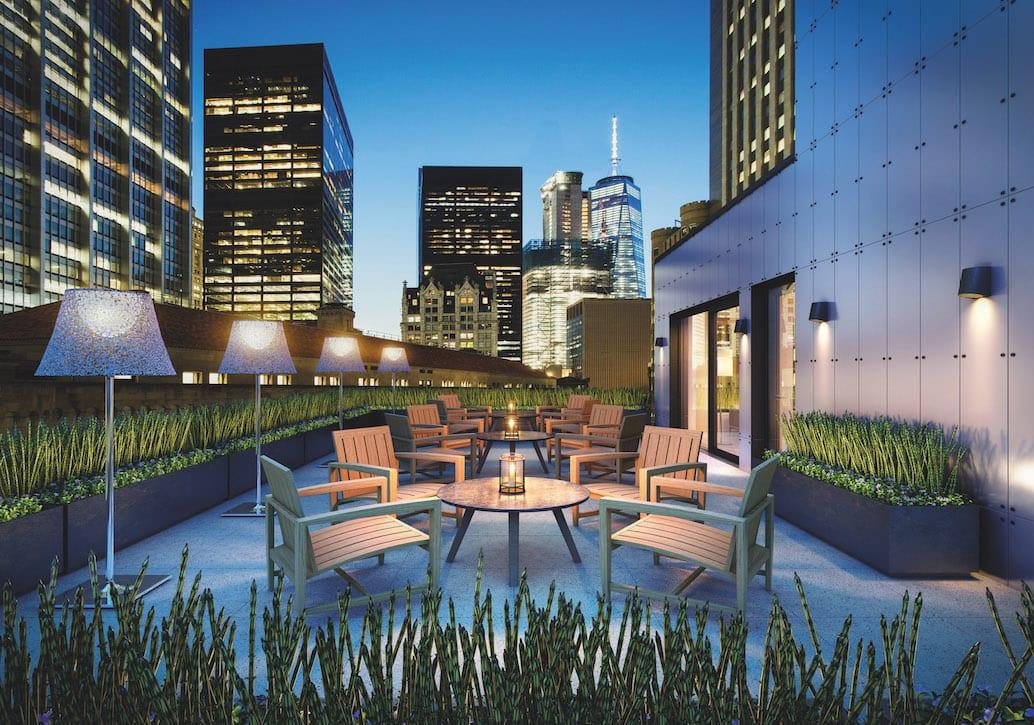 AKA Wall Street Rooftop Terrace - View 1