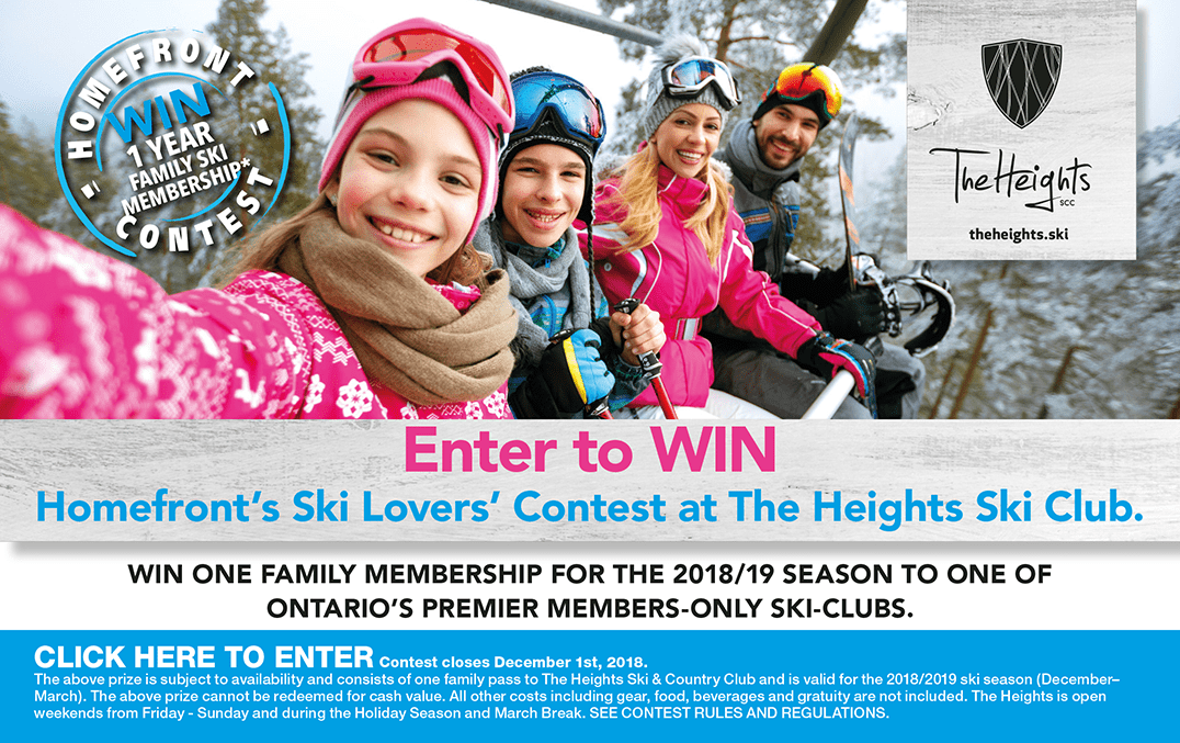 Enter to win with the Homefront Ski Lovers Contest